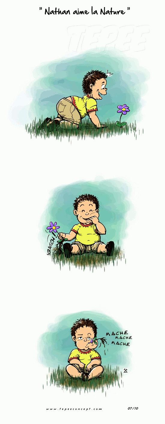Nathan aime la nature
