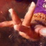 """Tableau """"Danse avec les mains 1"""" (détail mains)"""